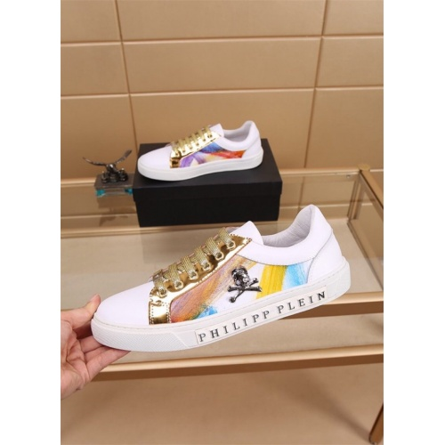 Replica Philipp Plein PP Casual Shoes For Men #827778 $76.00 USD for Wholesale