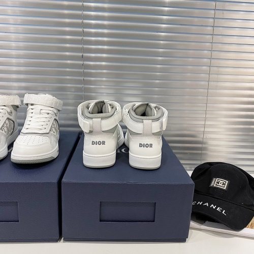 Replica Christian Dior High Tops Shoes For Men #827962 $122.00 USD for Wholesale