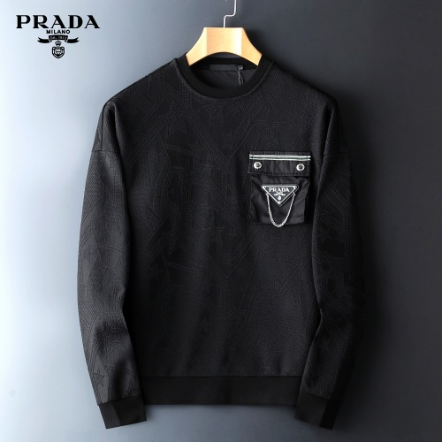 Prada Hoodies Long Sleeved O-Neck For Men #827969