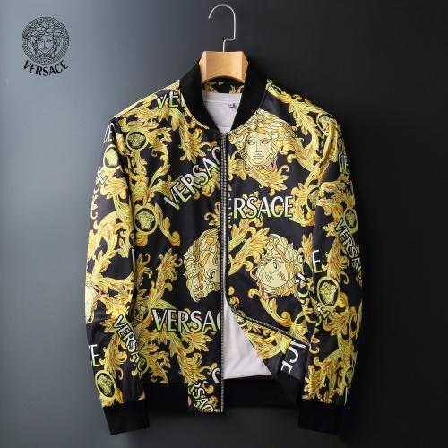 Versace Jackets Long Sleeved Zipper For Men #828056