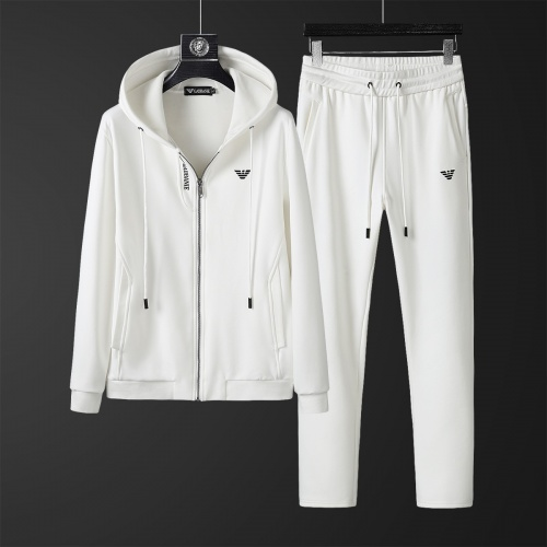 Armani Tracksuits Long Sleeved Zipper For Men #828059