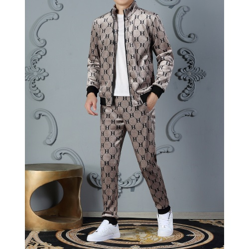 Hermes Tracksuits Long Sleeved Zipper For Men #828060