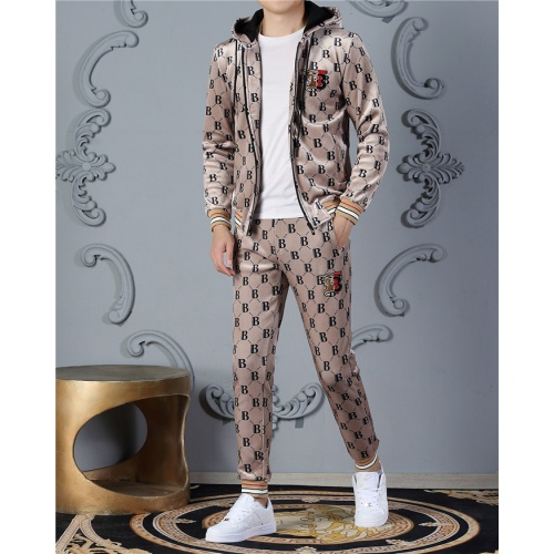 Burberry Tracksuits Long Sleeved Zipper For Men #828065