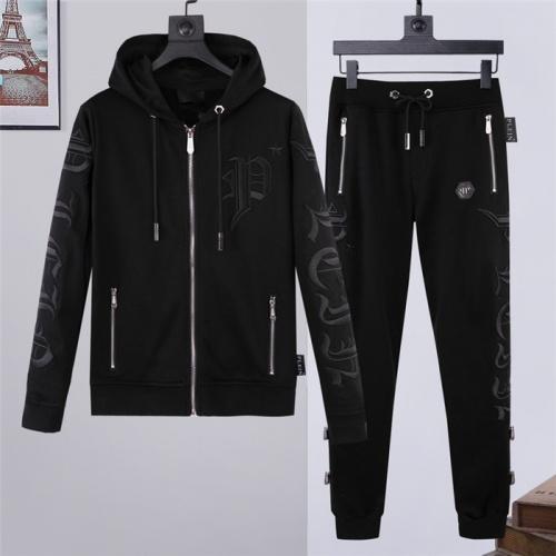 Philipp Plein PP Tracksuits Long Sleeved Zipper For Men #828416
