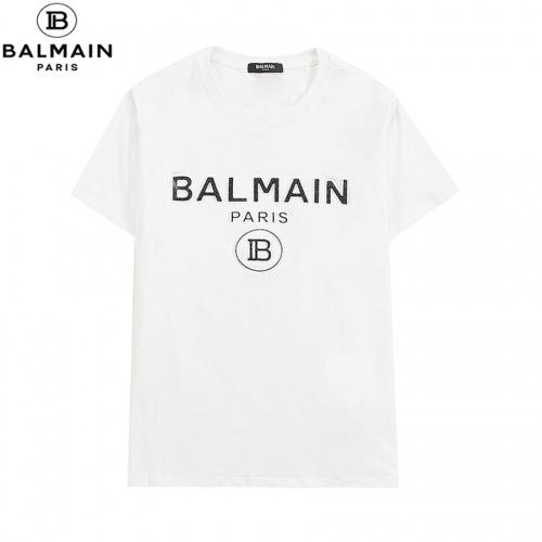 Balmain T-Shirts Short Sleeved O-Neck For Men #828458 $29.00 USD, Wholesale Replica Balmain T-Shirts