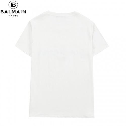 Replica Balmain T-Shirts Short Sleeved O-Neck For Men #828458 $29.00 USD for Wholesale