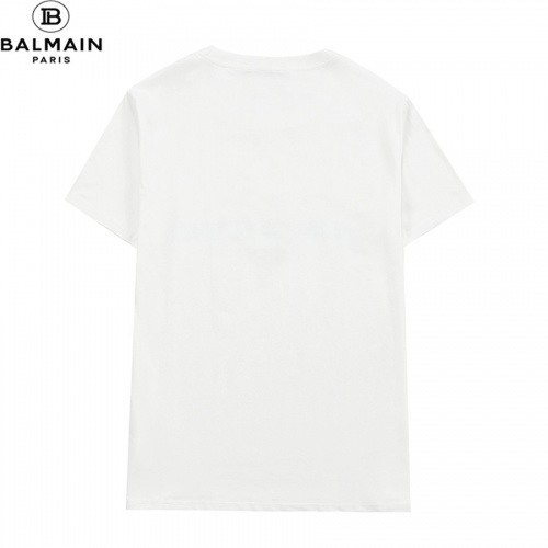 Replica Balmain T-Shirts Short Sleeved O-Neck For Men #828460 $32.00 USD for Wholesale