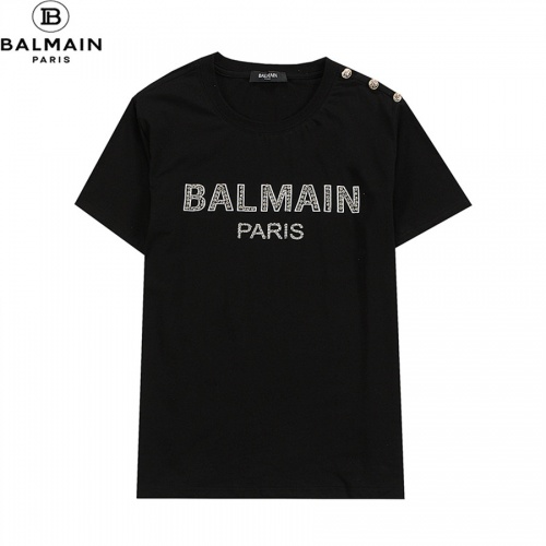 Balmain T-Shirts Short Sleeved O-Neck For Men #828461