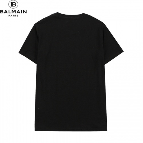 Replica Balmain T-Shirts Short Sleeved O-Neck For Men #828461 $32.00 USD for Wholesale