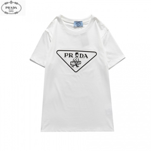 Prada T-Shirts Short Sleeved O-Neck For Men #828468 $27.00, Wholesale Replica Prada T-Shirts