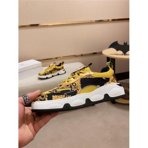 Versace Casual Shoes For Men #828514 $80.00 USD, Wholesale Replica Versace Casual Shoes