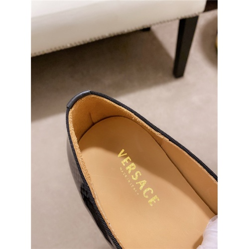 Replica Versace Leather Shoes For Men #828517 $82.00 USD for Wholesale