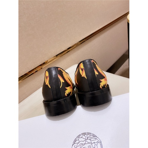 Replica Versace Leather Shoes For Men #828518 $82.00 USD for Wholesale