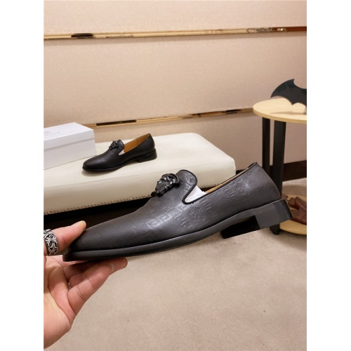 Versace Leather Shoes For Men #828519 $82.00 USD, Wholesale Replica Versace Leather Shoes