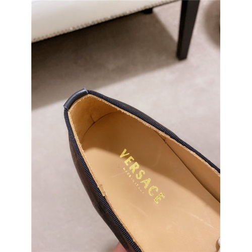 Replica Versace Leather Shoes For Men #828519 $82.00 USD for Wholesale