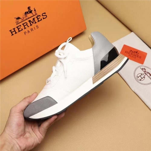 Replica Hermes Casual Shoes For Men #828560 $98.00 USD for Wholesale