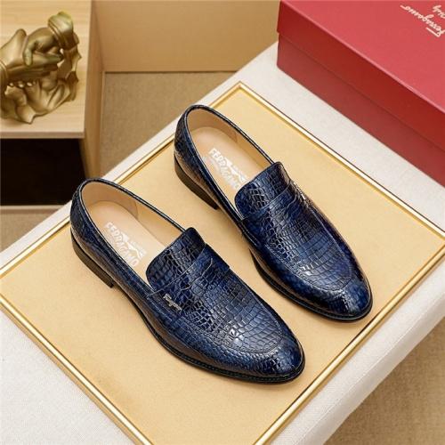 Ferragamo Salvatore FS Leather Shoes For Men #829112