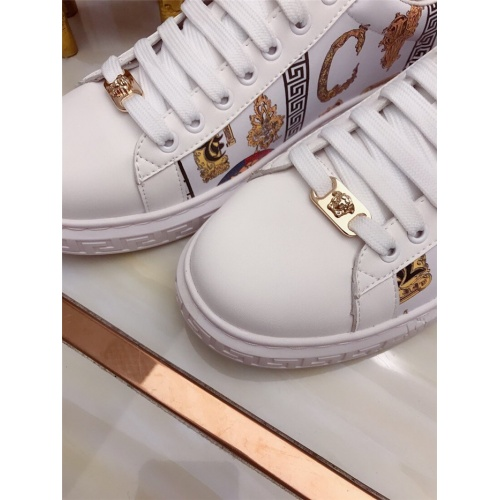 Replica Versace Casual Shoes For Men #829120 $76.00 USD for Wholesale