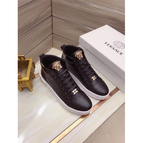 Versace High Tops Shoes For Men #829122 $82.00 USD, Wholesale Replica Versace High Tops Shoes