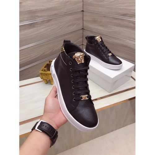 Replica Versace High Tops Shoes For Men #829122 $82.00 USD for Wholesale