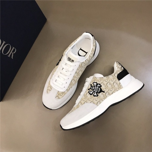 Replica Christian Dior Casual Shoes For Men #829158 $76.00 USD for Wholesale