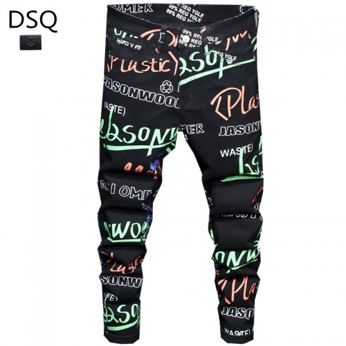 Dsquared Jeans Trousers For Men #829278 $48.00 USD, Wholesale Replica Dsquared Jeans