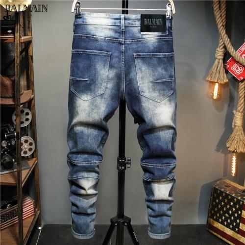 Balmain Jeans Trousers For Men #829297 $48.00 USD, Wholesale Replica Balmain Jeans