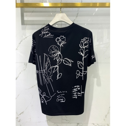 Replica Alexander McQueen T-shirts Short Sleeved O-Neck For Men #829299 $41.00 USD for Wholesale