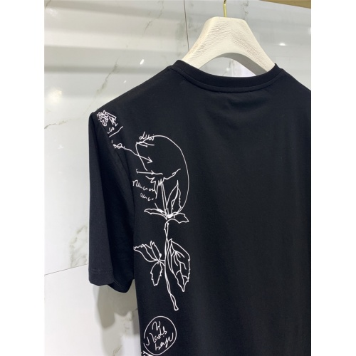 Replica Alexander McQueen T-shirts Short Sleeved O-Neck For Men #829303 $41.00 USD for Wholesale