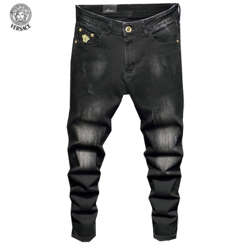 Replica Versace Jeans Trousers For Men #829305 $48.00 USD for Wholesale