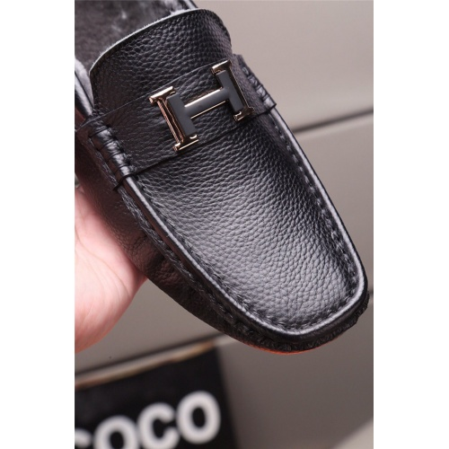 Replica Hermes Casual Shoes For Men #829428 $80.00 USD for Wholesale