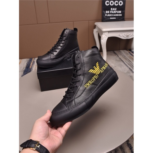 Armani High Tops Shoes For Men #829458
