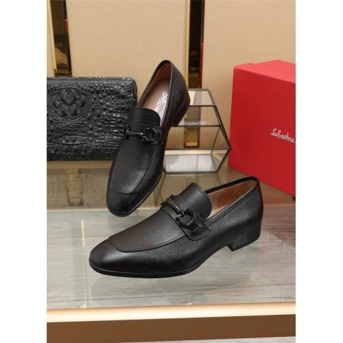 Ferragamo Salvatore FS Leather Shoes For Men #829475