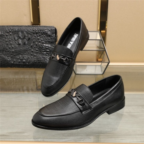 Armani Leather Shoes For Men #829489