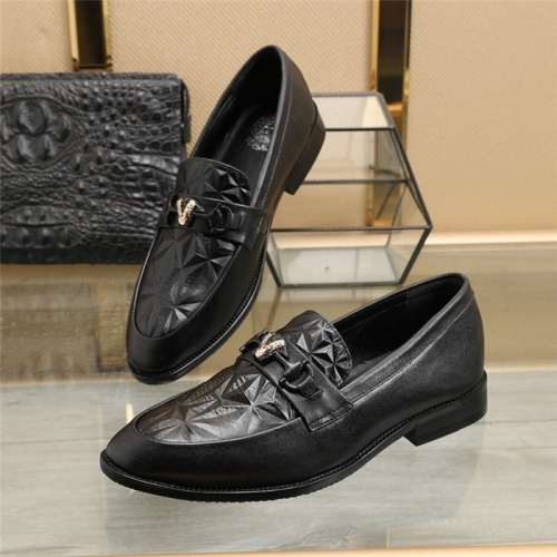 Versace Leather Shoes For Men #829492 $88.00 USD, Wholesale Replica Versace Leather Shoes