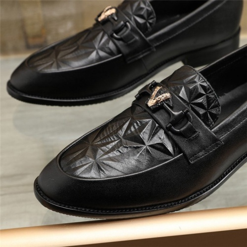 Replica Versace Leather Shoes For Men #829492 $88.00 USD for Wholesale