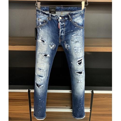 Dsquared Jeans Trousers For Men #829565 $64.00 USD, Wholesale Replica Dsquared Jeans