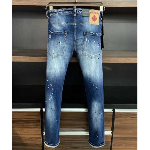 Replica Dsquared Jeans Trousers For Men #829565 $64.00 USD for Wholesale