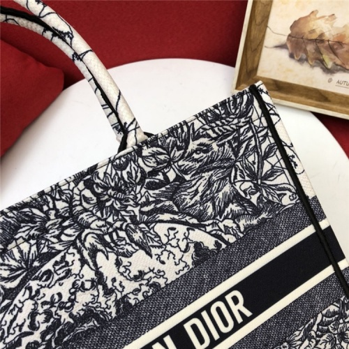 Replica Christian Dior AAA Quality Tote-Handbags For Women #829840 $80.00 USD for Wholesale