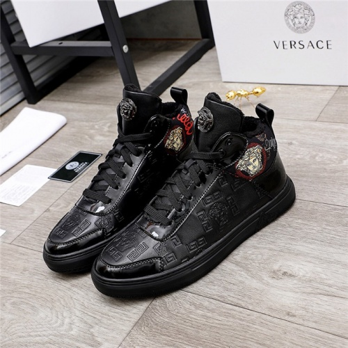 Versace High Tops Shoes For Men #829856