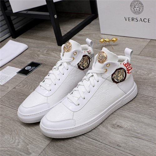 Versace High Tops Shoes For Men #829857