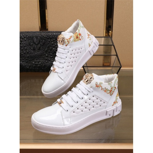 Versace High Tops Shoes For Men #829920