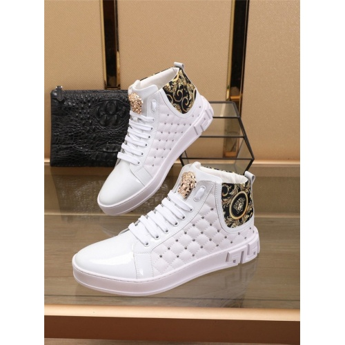 Versace High Tops Shoes For Men #829922
