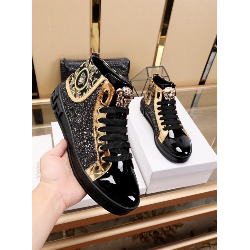 Replica Versace High Tops Shoes For Men #829927 $82.00 USD for Wholesale