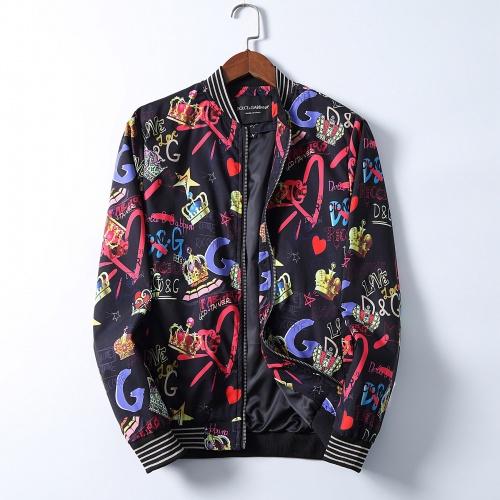 Dolce & Gabbana D&G Jackets Long Sleeved Zipper For Men #830017
