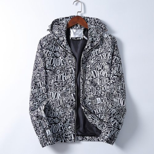 Christian Dior Jackets Long Sleeved Zipper For Men #830024