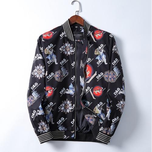 Dolce & Gabbana D&G Jackets Long Sleeved Zipper For Men #830026