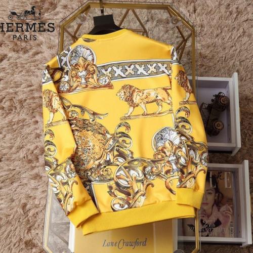 Replica Hermes Hoodies Long Sleeved O-Neck For Men #830066 $38.00 USD for Wholesale