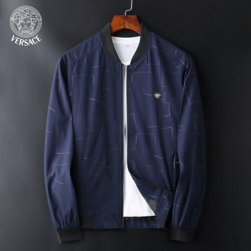 Versace Jackets Long Sleeved Zipper For Men #830070