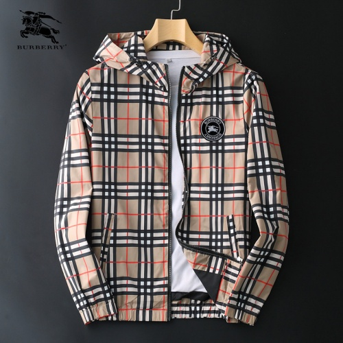 Burberry Jackets Long Sleeved Zipper For Men #830078